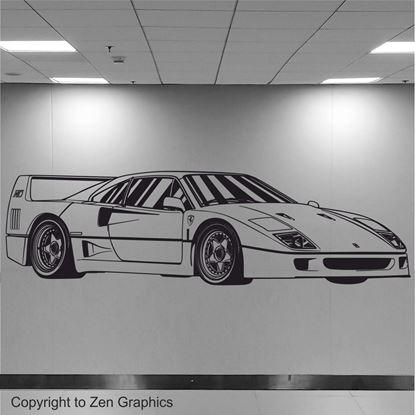Picture of Ferrari F40 Wall Art sticker