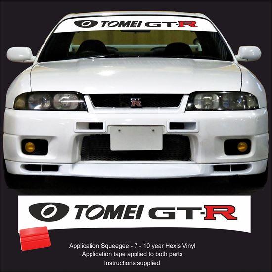 "Picture of Nissan Skyline ""Tomei GT-R"" Sunstrip  / Sticker"