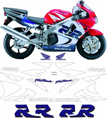 Picture of Honda CBR 900RR  Full Fireblade 1998 replacement Decals / Stickers