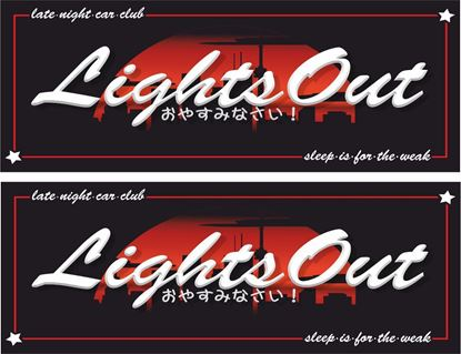 Picture of Lights Out, Late Night Car Club Decals / Stickers