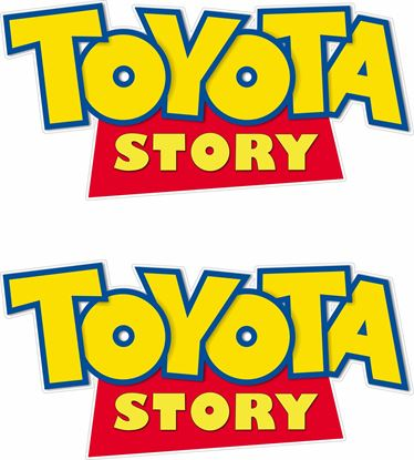 """Picture of """"Toyota Story""""  Decals / Stickers"""