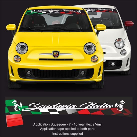 "Picture of Fiat  500 / 595  Abarth ""Scuderia Italia"" Sunstrip /  Sticker"