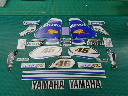 Picture of Yamaha Aerox R Rossi  Livery 2006 race replica Decals / Stickers Kit