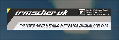 Picture of Irmscher UK  rear glass Sticker
