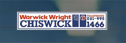 Picture of Warwick Wright - Chiswick Dealer rear glass Sticker