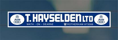 Picture of T.Hayselden Ltd - Rotherham Dealer rear glass Sticker
