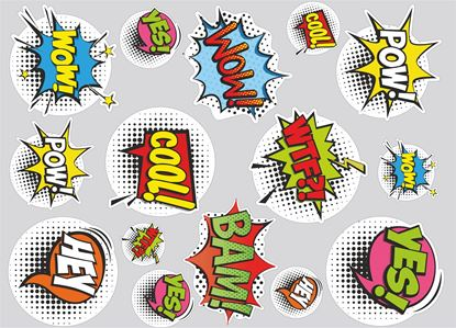 Picture of Comic Slap Sticker Sheet