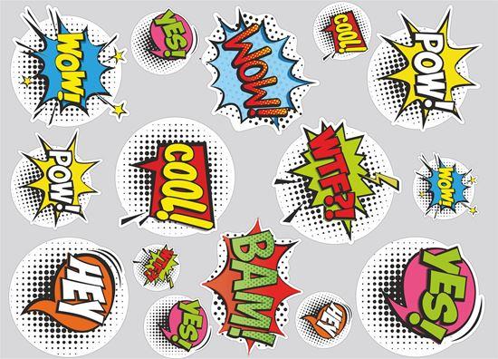 Picture of Comic Slap Sticker Sheet