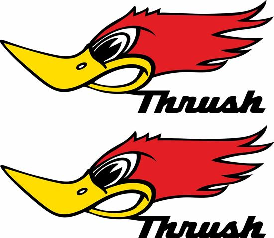 "Picture of ""Thrush"" Decals / Stickers"