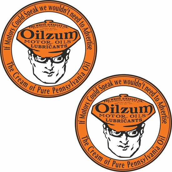 Picture of Oilzum Motor Oils Decals / Stickers