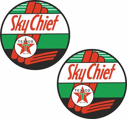 Picture of Texaco Sky Cheif Decals / Stickers
