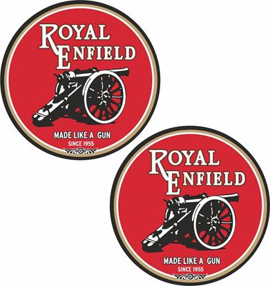 "Picture of Royal Enfield ""Made like a Gun"" Decals / Stickers"