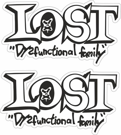 Picture of Lost Dysfunctional Family Decals / Stickers