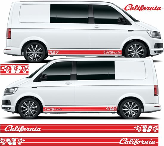 """Picture of VW T5 / T6 """"California"""" Stripes / Stickers"""