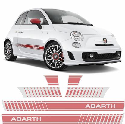 Picture of Fiat 500  Abarth side Stripes / Stickers  FACTORY FIT