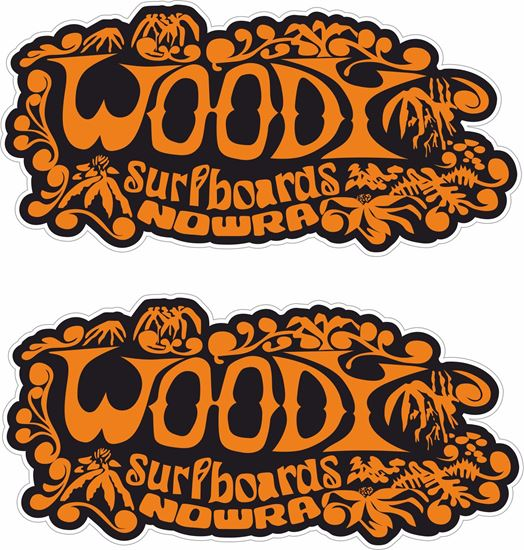Picture of Woody Surfboards Decals / Stickers