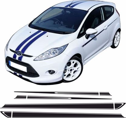 Picture of Ford Fiesta MK7 ST / ZS  side Stripes / Stickers PANEL FIT