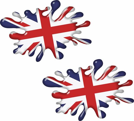 Picture of Union Jack Splat Decals / Stickers
