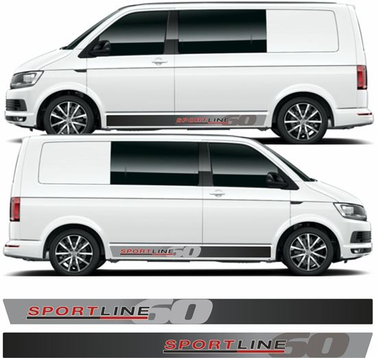 """Picture of VW T5 / T6 """"Sportline 60"""" Stripes / Stickers"""
