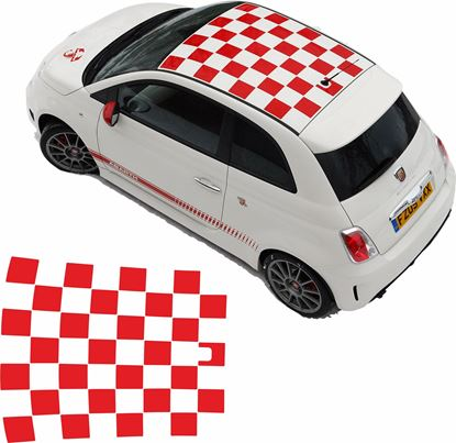 Picture of Fiat 500 / 595 Abarth roof Graphics / Stickers  FACTORY FIT