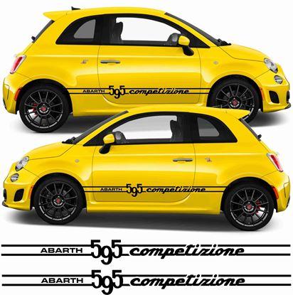 Picture of Fiat 595 Competizione Abarth side Stripes / Stickers
