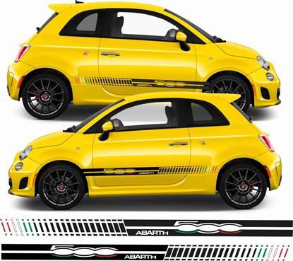 Picture of Fiat 500 / 595 Abarth Italia flag side Stripes / Stickers