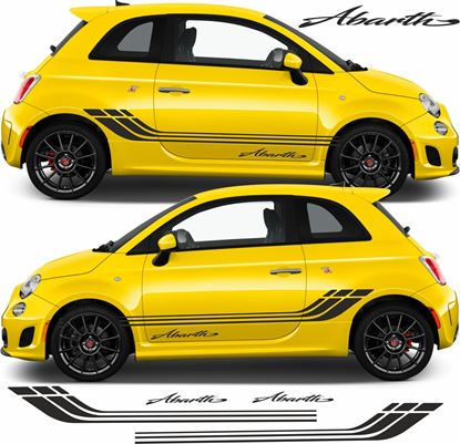 Picture of Fiat  500 / 595 Abarth side Stripes & Decals / Stickers