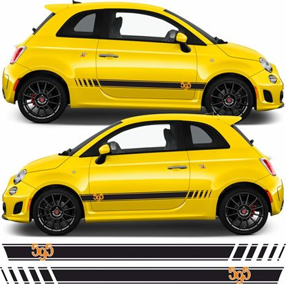 Picture of Fiat 595  side Stripes Decals / Stickers