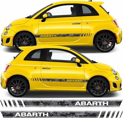 Picture of Fiat  500 / 595 Abarth Pixel Camo side Stripes / Stickers