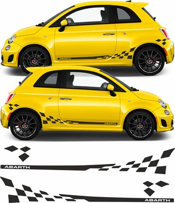 Picture of Fiat  500 / 595 Abarth side Graphics / Stickers