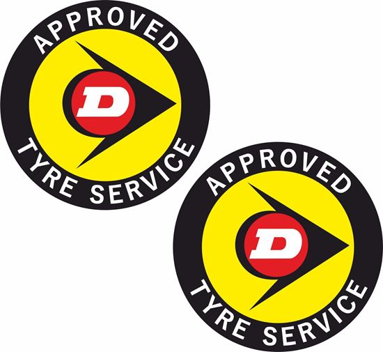 Picture of Dunlop Tyre Service Decals / Stickers