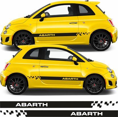 Picture of Fiat 500 / 595 Abarth side Stripes / Stickers