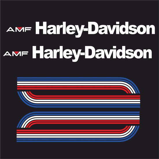 Picture of Harley Davidson AMF 1975 Tank  Decals / Stickers