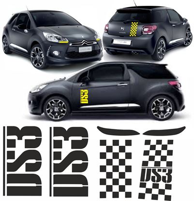 Picture of DS3 Side, Rear, Headlights and Dash Decals / Stickers
