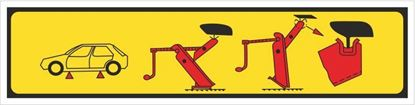 Picture of Peugeot 205 GTI Jacking Points Decal / Sticker