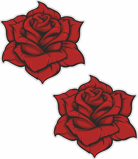 Picture of Rose Decals / Stickers