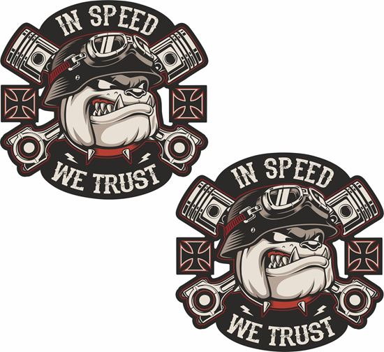 Picture of In Speed we Trust Decals / Stickers