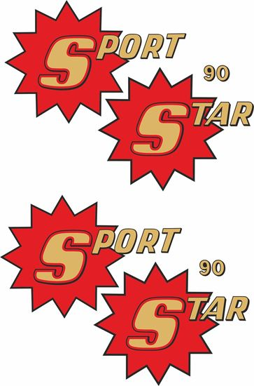 Picture of BSA SS90 Sport Star 90 side panel Decals / Stickers