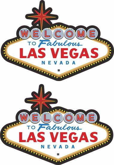 """Picture of """"Las Vegas""""  Decals / Stickers"""