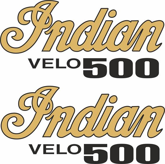 Picture of Indian Velo 500 Decals / Stickers