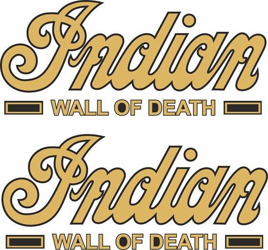 Picture of Indian Wall of Death  Decals / Stickers