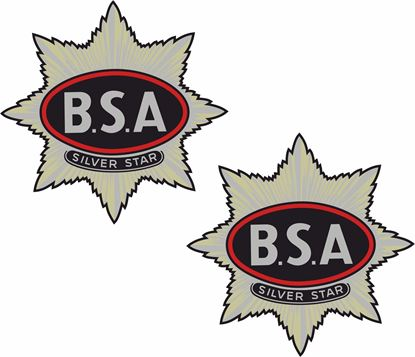 Picture of BSA Silver Star Decals / Stickers