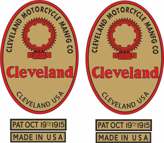 Picture of Cleveland Motorcycle Decals / Stickers