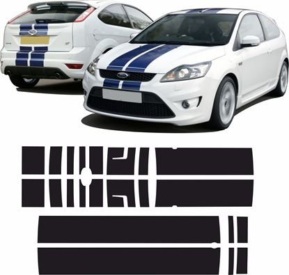 Picture of Ford Focus MK2 ST  Facelift OTT Stripes / Stickers