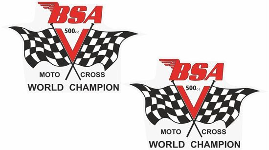 Picture of BSA B50 Victor Decals / Stickers