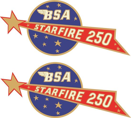 Picture of BSA Starlite replacement Tank Decals / Sticker
