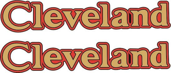 Picture of Cleveland Motorcycle Tank Decals / Stickers