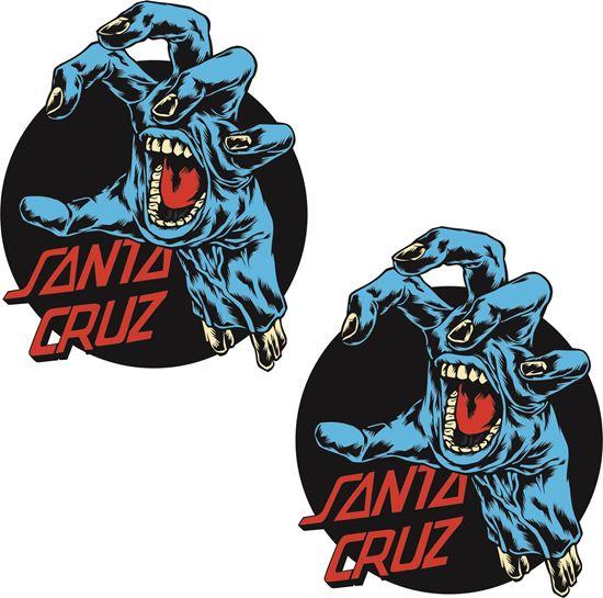 Picture of Santa Cruz  Screaming Hand Decals / Stickers