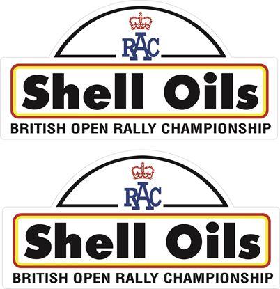 Picture of RAC British Open Shell Oil Door Decals / Stickers