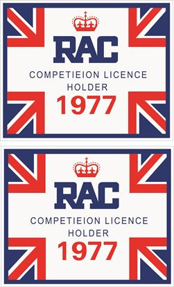 Picture of Lombard RAC Competition Licence Decals / Stickers